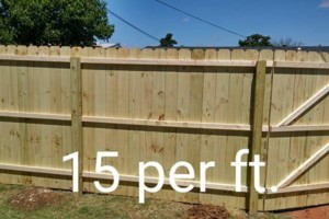 Photo #6: Wood Fences $15 per ft.