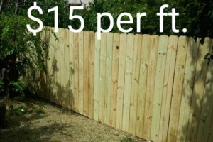 Photo #5: Wood Fences $15 per ft.