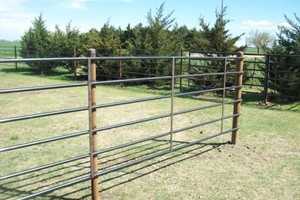 Photo #1: Champlin fence. SUPER SPECIAL on Continuous Pipe Fence INSTALLED