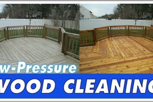 Photo #1: Low Pressure Fence & Deck Cleaning