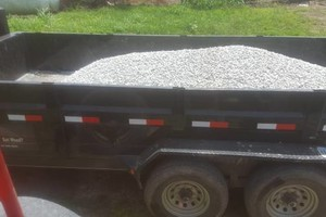 Photo #1: Gravel hauling with Gooseneck dump traile
