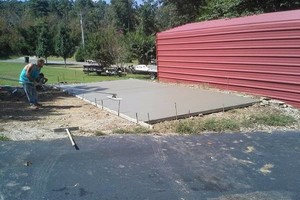 Photo #1: Concrete Cement Driveways, slabs, sidewalks, new/ crack repair