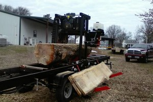 Photo #2: Portable sawmill for hire - $45/hr
