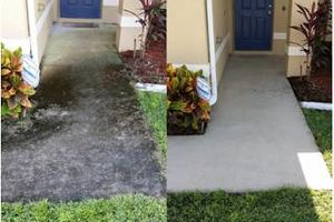 Photo #2: Pressure Washing - High Access patio and path Cleaning