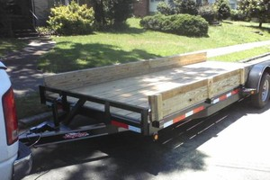 Photo #2: Moving/Hauling/Removal - Truck and flatbed trailer for hire