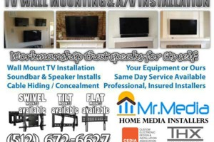 Photo #1: WE INSTALL IT ALL - Home Theater to Flatscreen TV Wall Mounting