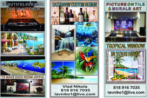 Photo #1: PICTURE ON TILE & MURALS ART