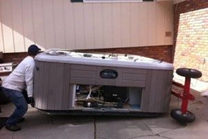 Photo #3: Hot tub / spa movers