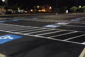 Photo #1: Power Washing & Striping & Sealcoating