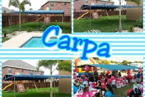 Photo #4: Round tables, Waterslide, moonjumps, get ready for Your Party