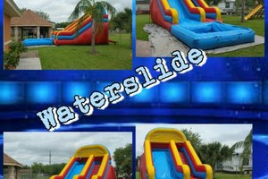 Photo #2: Round tables, Waterslide, moonjumps, get ready for Your Party
