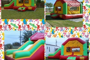 Photo #1: Round tables, Waterslide, moonjumps, get ready for Your Party