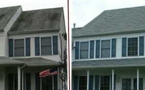 Photo #2: All clean specializing in roof cleaning/ remove ugly black streaks.