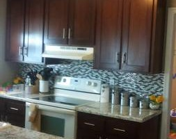 Photo #3: Kitchen cabinet refacing