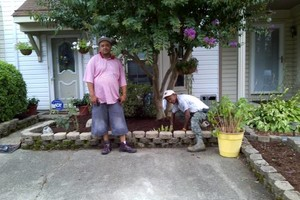 Photo #6: Men at the mission-yard work/painting
