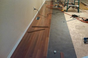 Photo #1: WOOD FLOOR INSTALLATION