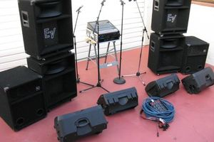 Photo #1: THE SOUND GUY. PA System Speakers Rental for DJ, Event, or Bands. Sound System