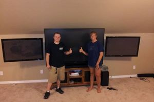 Photo #1: HOME theater TV MOUNTING MOUNTED HUNG SURROUND SOUND / MEDIA ROOM