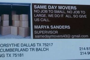 Photo #1: Sameday movers