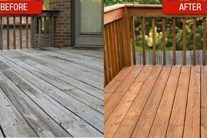 Photo #1: Restora Blast Deck Restoration. FURNITURE, WOOD, STEEL...