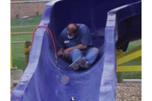 Photo #1: FIBERGLASS POOL & WATER SLIDE REPAIR