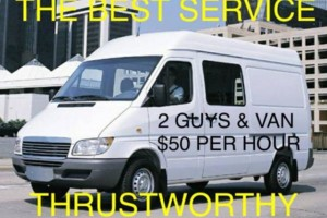 Photo #1: LAST MINUTE MOVE AND DELIVERY (2 GUYS & VAN $50 PER HOUR)