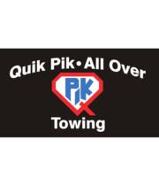 Logo Quik Pik - All Over Towing