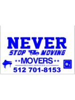 Logo Never Stop Moving Movers