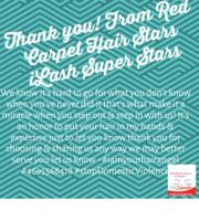 Logo Red Carpet Hair iLash Super Stars