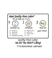 Logo Quality Move Labor of Reno