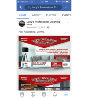 Logo Lucy's Professional Cleaning Corp.