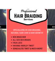 Logo Happy Hair Braiding Services