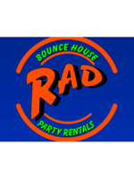Logo Rad Bounce House-Party Rentals LLC.