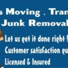 Logo Parris moving transporting & junk removal
