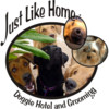 Logo Just Like Home Doggie Hotel And Grooming