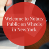 Logo Notary On Wheels