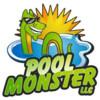 Logo Pool Monster LLC. Swimming pool service, repair, and maintenance