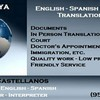 Logo ENGLISH SPANISH TRANSLATION AGENCY FRIENDLY SERVICE, LOWER PRICES