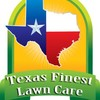 Logo Neat clean and green! Texas Finest Lawn Care.