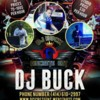Logo dj Buck. $75.00-$100.00/h DJ SERVICES PLUS 1 HR FREE