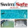 Logo Swimming pool service. SwimSafe pool care