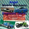 Logo Angel mobile mechanic. heap prices