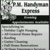 Logo P.m Handyman exspress - kitchen and bath remodeling