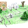Logo Irrigation System Specializes by Vida