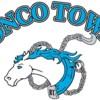 Logo Bronco Towing. Special shop rates!