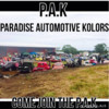 Logo PARADISE AUTOMOTIVE KOLORS. COME! JOIN THE PAK!