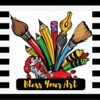Logo Bless Your Art Custom Art & Paint Parties
