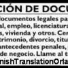 Logo SPANISH Translation, Traduccion de ESPANOL Certificada y Notariada