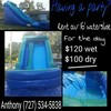 Logo Inflatable slide rental cheap