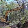 Logo Land clearing!! Grading!! Skid steer services!!! Demolition